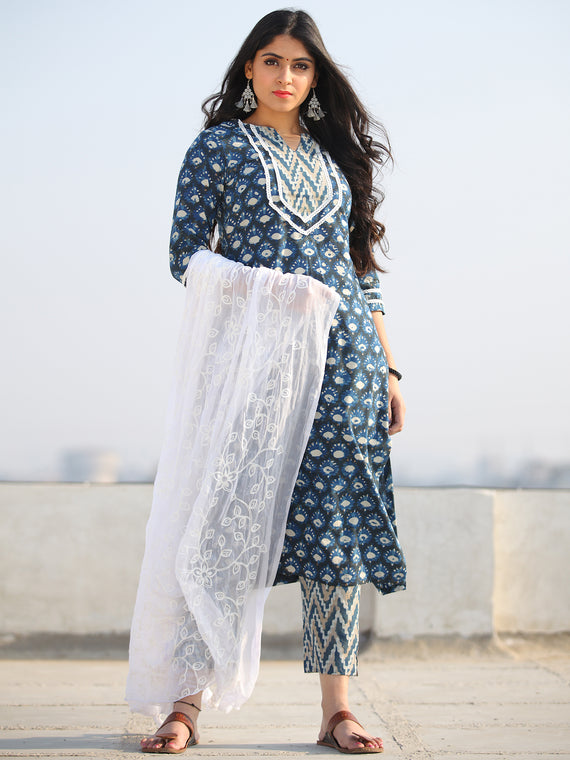 Bahaar Rada - Set of Kurta Pants & Dupatta - KS60L908D