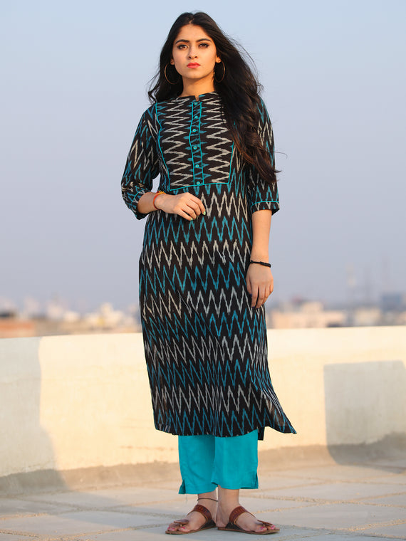 Tagai Rahibah - Set of Ikat Kurta & Pants  - KS43C567