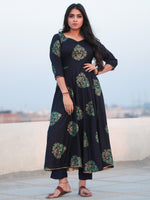 Raas Rajooh - Set of Flared Printed Kurta & Pants  - KS83F2004