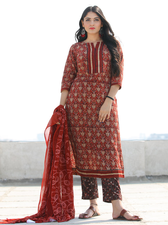 Bahaar Nafiah - Set of Kurta Pants & Dupatta - KS46G2150D