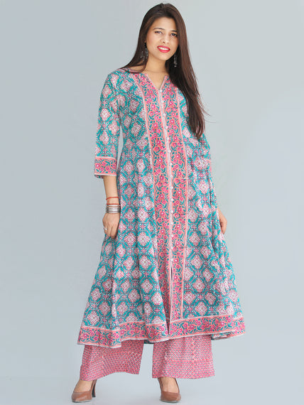 Rozana Gulshan Anarkali Kurta Palazzo Set - KS29AS2267