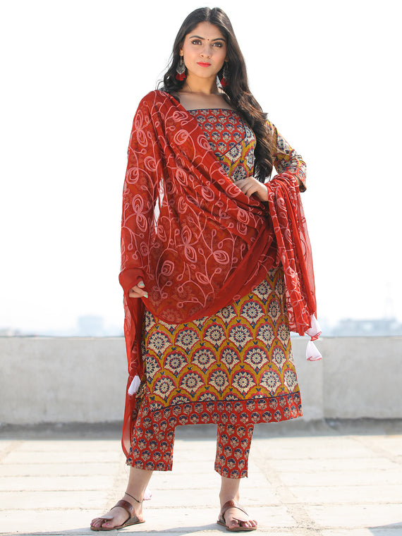 Bahaar Nafisa - Set of Kurta Pants & Dupatta - KS90D1349D