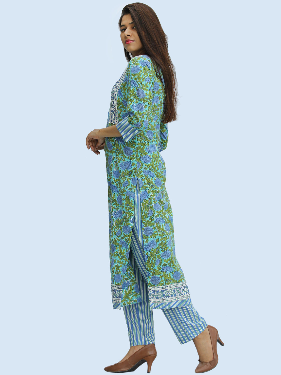 Rangrez Fazeen - Set of Kurta Pants & Dupatta - KS50A2304D