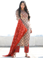 Bahaar Naira - Set of Kurta Pants & Dupatta - KS60J1812D