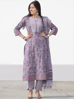 Nayab Gulbagh - Set of Kurta Pants & Dupatta - KS03A2528D