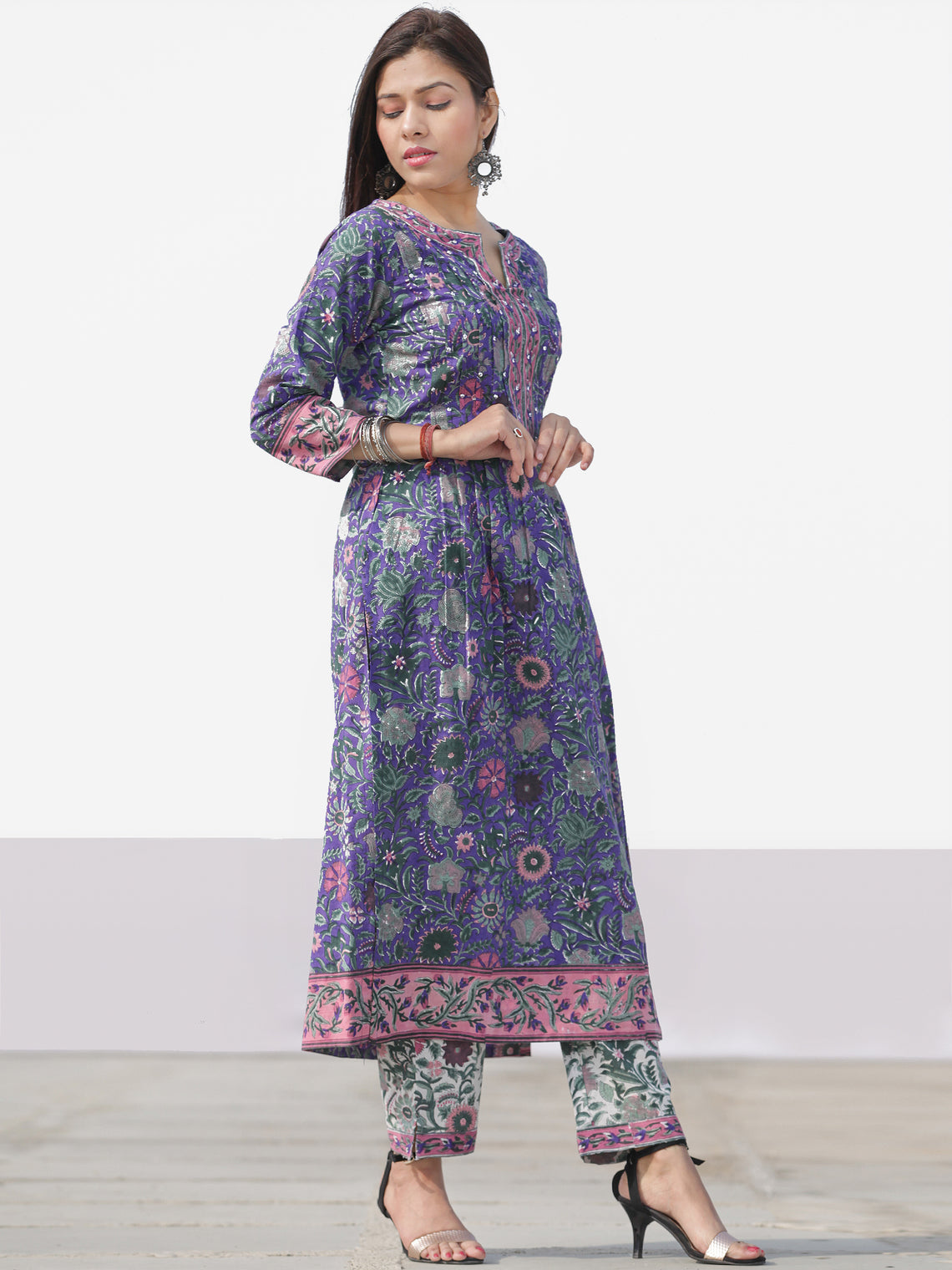 Nayab Ada - Set of Kurta Pants & Dupatta - KS46A2531D