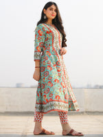 Jashn Sahat - Set of Anarkali Kurta Pants & Dupatta - KS29F2400D