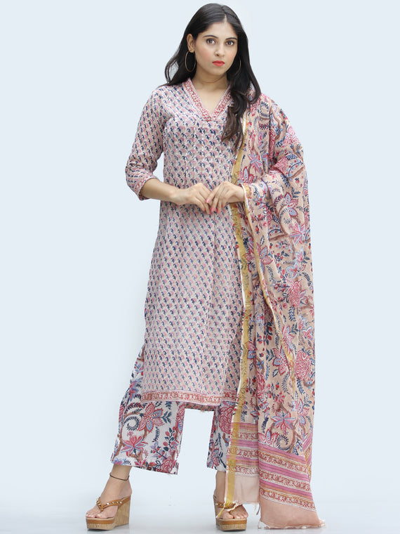 Rangrez Parizaad - Set of Kurta Palazzo & Dupatta - KS59A2330D