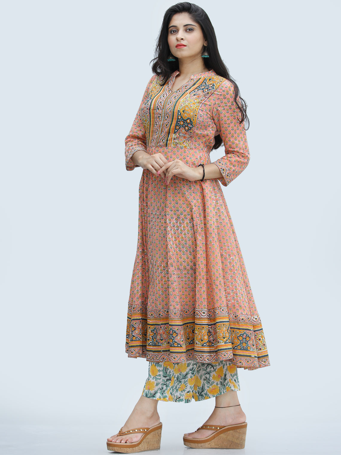Rangrez Feiyaz - Set of Anarkali Kurta Palazzo & Dupatta - KS25E2312D
