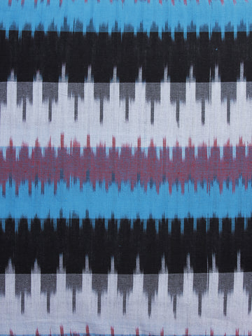Multi Color Pochampally Hand Woven Ikat Fabric Per Meter - F002F978