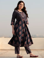 Zohra Miral - Set of Anarkali Kurta Pants & Dupatta - KS159A2514D