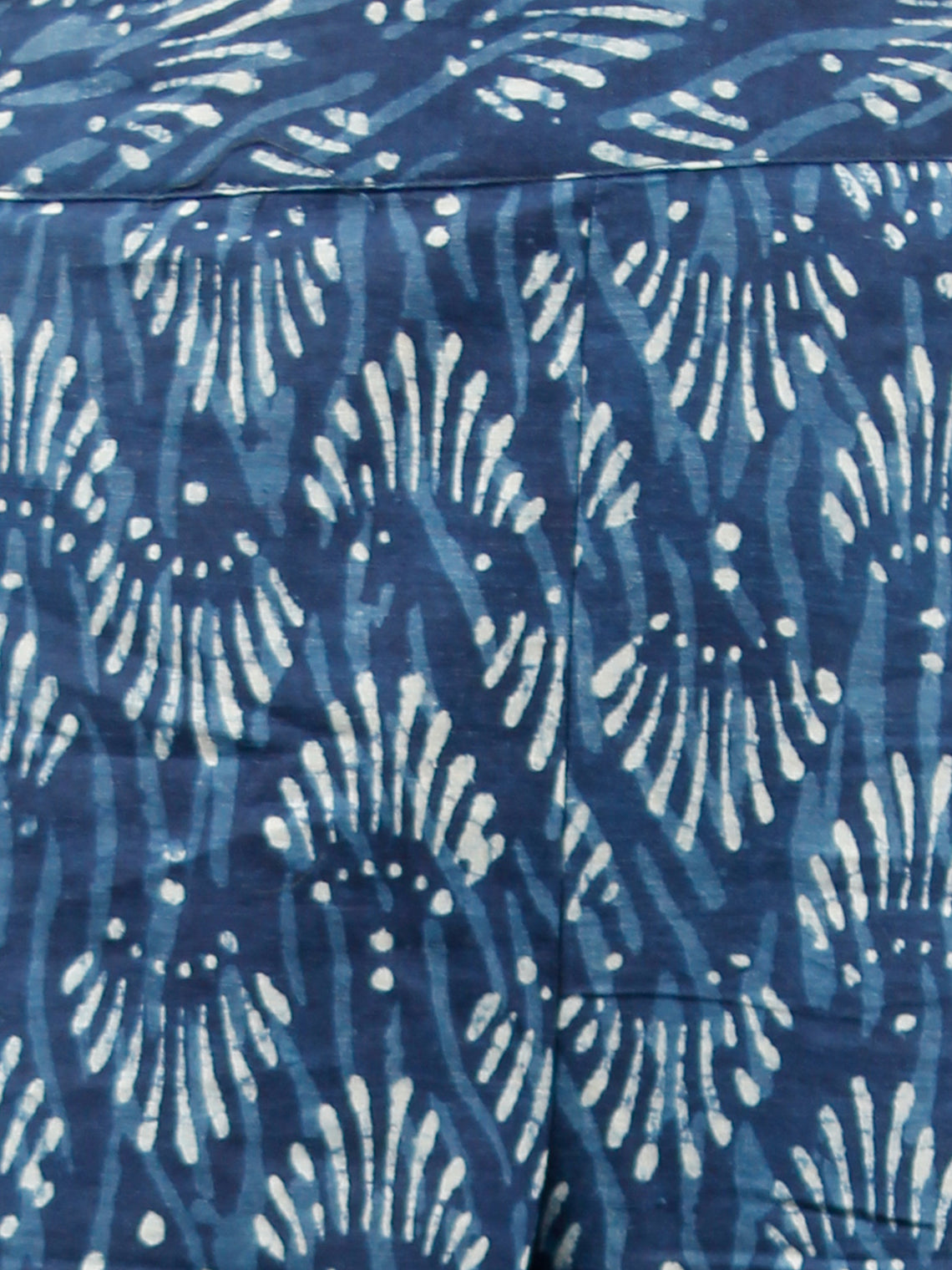 Indigo White Hand Block Printed Semi Elasticated Waist Cotton Sharara  - Sh09F358
