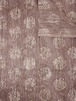 Brown Beige Natural Dyed Hand Block Printed Cotton Fabric Per Meter - F0916306