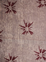 Beige Maroon Natural Dyed Hand Block Printed Cotton Fabric Per Meter - F0916304