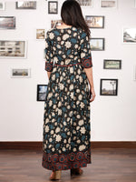 GARDENIA  - Hand Block Printed Cotton Long Angrakha Dress  - DS15F1365