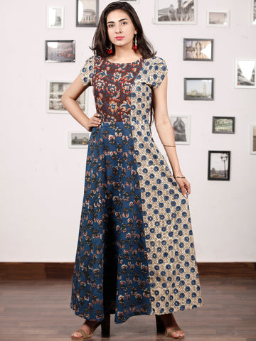 STYLO COLLARGE - Hand Block Printed Cotton Long Dress  - D224F1304