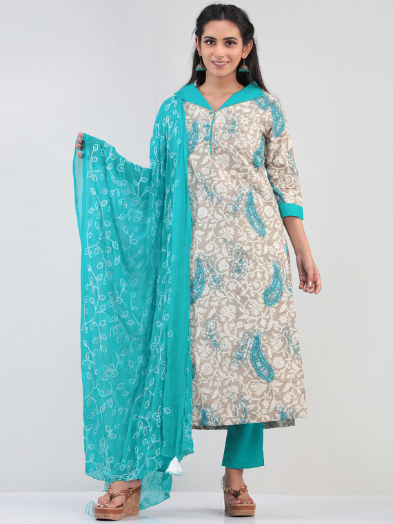 Bahaar Arnaz - Set of Kurta Pants & Dupatta - KS07C1397D