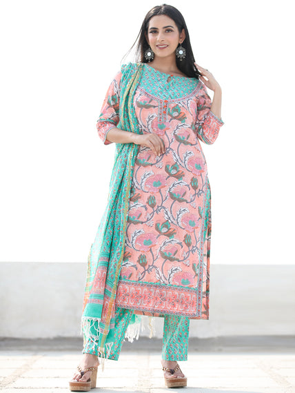 Jashn Sameera - Set of Kurta Pants & Dupatta - KS60F2498D