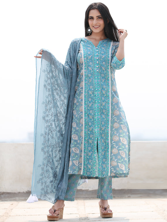 Jashn Zohra - Set of Kurta Pants & Dupatta - KS29K2500D