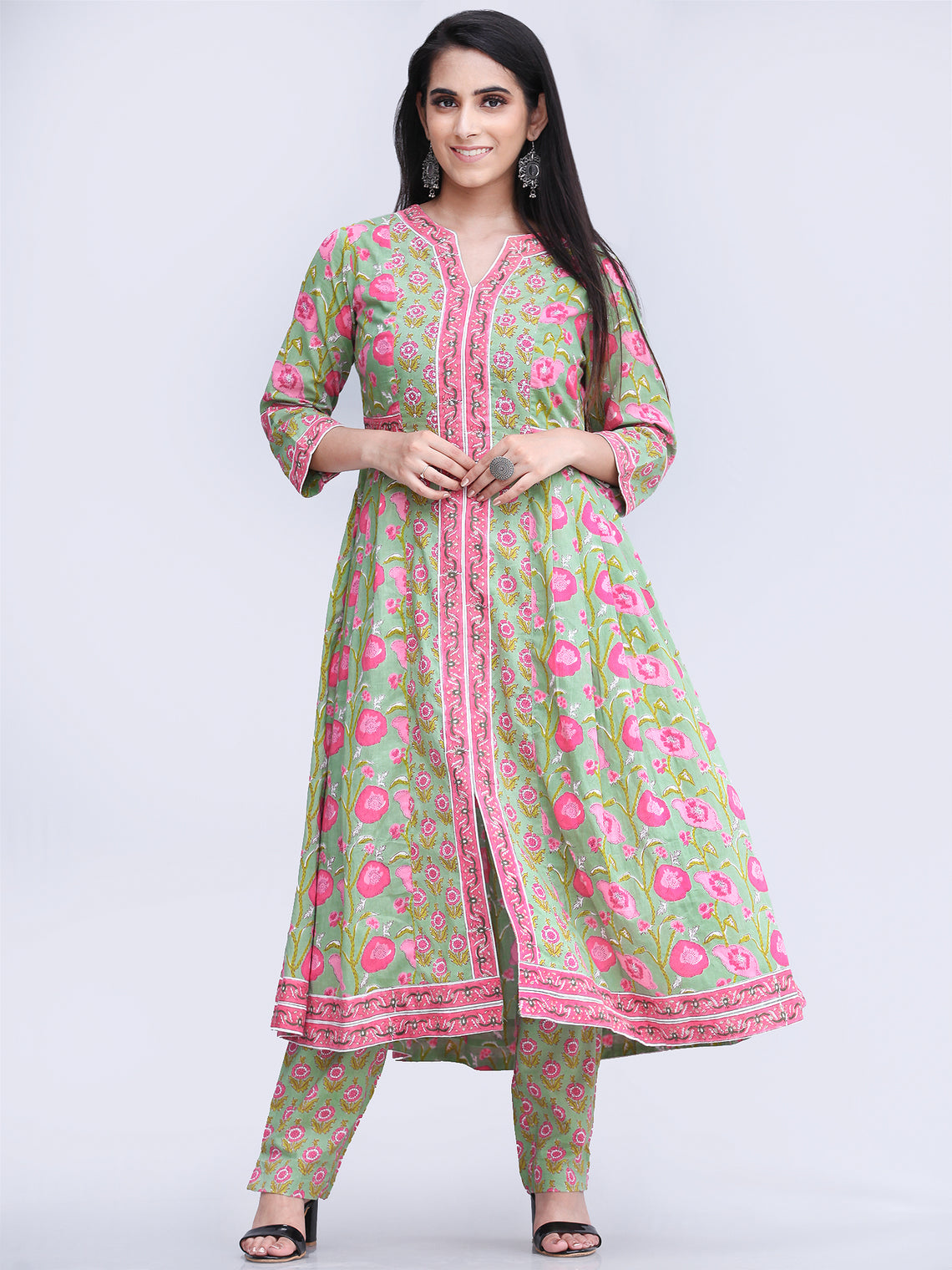 Rozana Rubina - Set of Kurta Pants & Dupatta - KS29I2490D