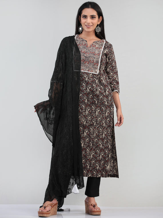 Bahaar Naija - Set of Kurta Pants & Dupatta - KS47E1370D