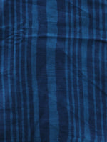 Indigo Sky Blue Cotton Hand Block Printed Dupatta   - D04170410