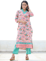 Jashn Fitrat - Set of Kurta Pants & Dupatta - KS59C2498D