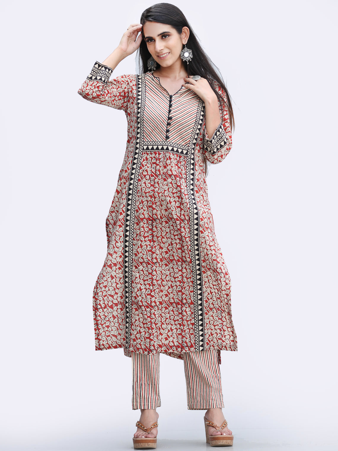 Bahaar Zehra - Set of Kurta Pants & Dupatta - KS146A2450D