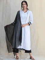 Naznin - Solid Kurta Pants Set With Dupatta - SS01F1ZZZ