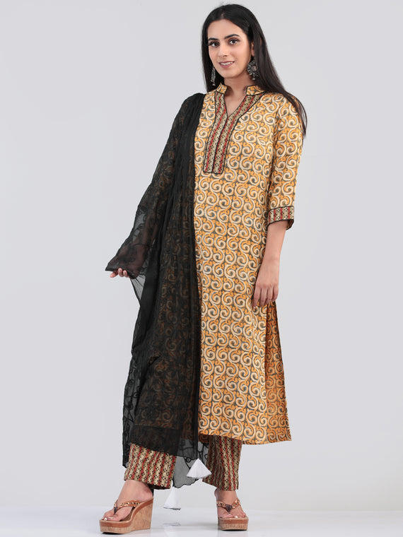 Bahaar Afren - Set of Kurta Pants & Dupatta - KS11B1325D