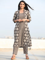 Bahaar Ruhi - Set of Kurta Pants & Dupatta - KS80B2462D