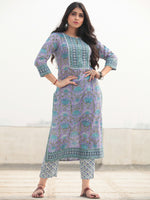 Jashn Tahsin - Set of Kurta Pants & Dupatta - KS60D2364D