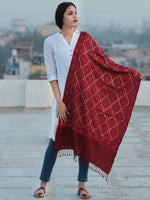 Maroon Jamavari Aari & Sequence Embroidered Pure Wool Kashmiri Stole - S200546