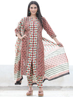 Bahaar Sitara - Set of Kurta Pants & Dupatta - KS78D2470D
