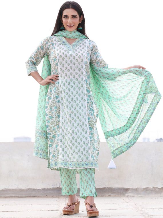 Jashn Diwa - Set of Kurta Pants & Dupatta - KS59D2499D