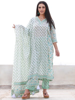 Jashn Zafrah - Set of Kurta Pants & Dupatta - KS59E2499D