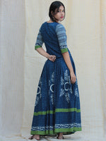 Naaz Rukshaar - Hand Block Printed Long Top And Skirt Dress - DS79F001