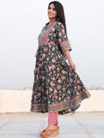 Jashn Manal - Set of Anarkali Kurta Pants & Dupatta - KS25F2388D