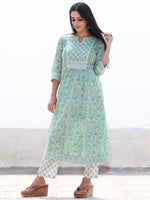 Jashn Ambar - Set of AnarKali Kurta Pants & Dupatta - KS57H2499D