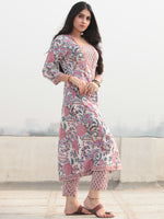 Jashn Fiza - Set of Kurta Pants & Dupatta - KS28C2331D