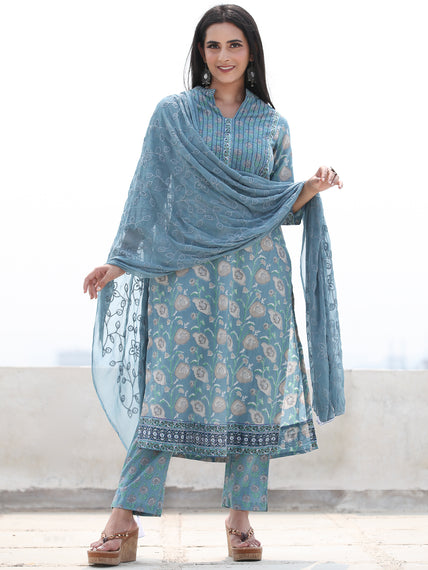 Jashn Nahiza - Set of Kurta Pants & Dupatta - KS61B2500D