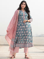 Jashn Nayab - Set of Kurta Pants & Dupatta - KS57B2361D