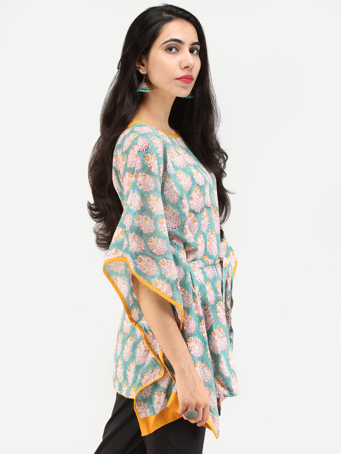 Rangrez Jahaan - Kaftan Cotton Top - T72F2147