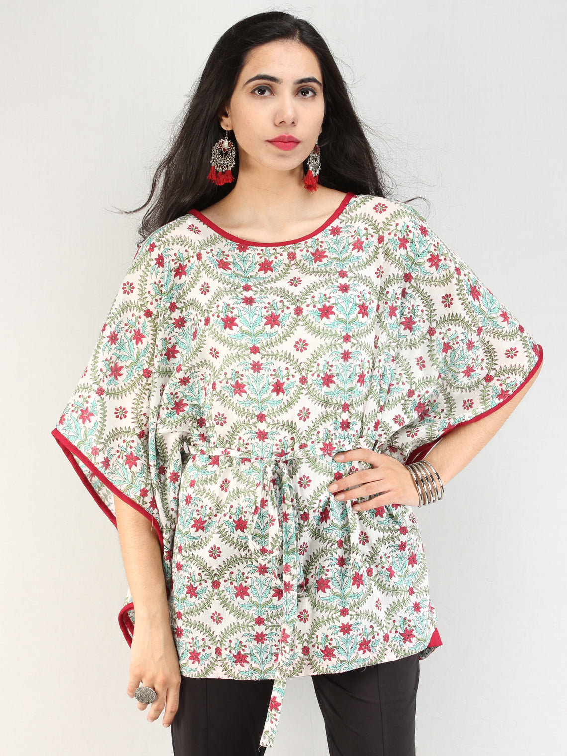 Rangrez Gulrukh - Kaftan Cotton Top - T72F2166