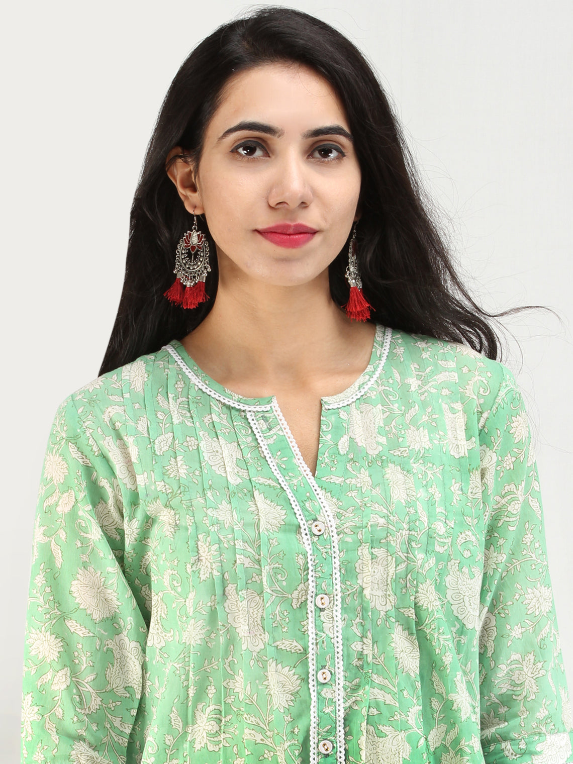 Rangrez Mehtab - Cotton Top - T74F2128