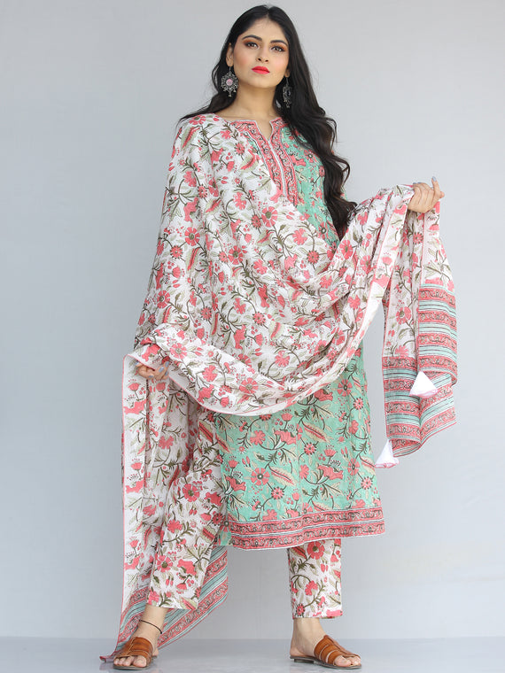 Jashn Ada - Set of Kurta Pants & Dupatta - KS46C2187D