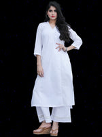 Chandni Madiha - Cotton Straight Kurta - KS40KFP05
