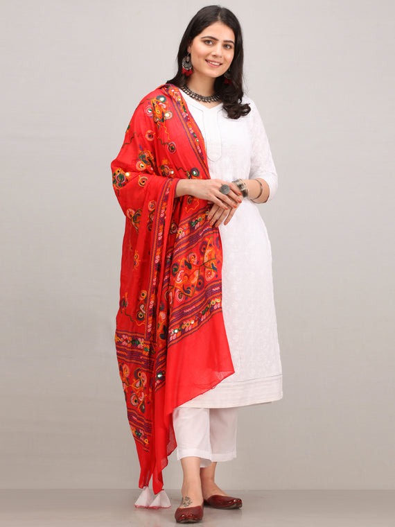 Noor Aifa -  Self Embroidered Kurta Pant Set With Mirror Work Dupatta - KS42BYYD2