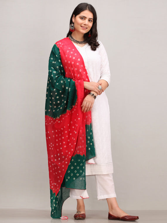 Noor Shafaq -  Self Embroidered Kurta Pant Set With Bandhini Dupatta - KS42BYYD3