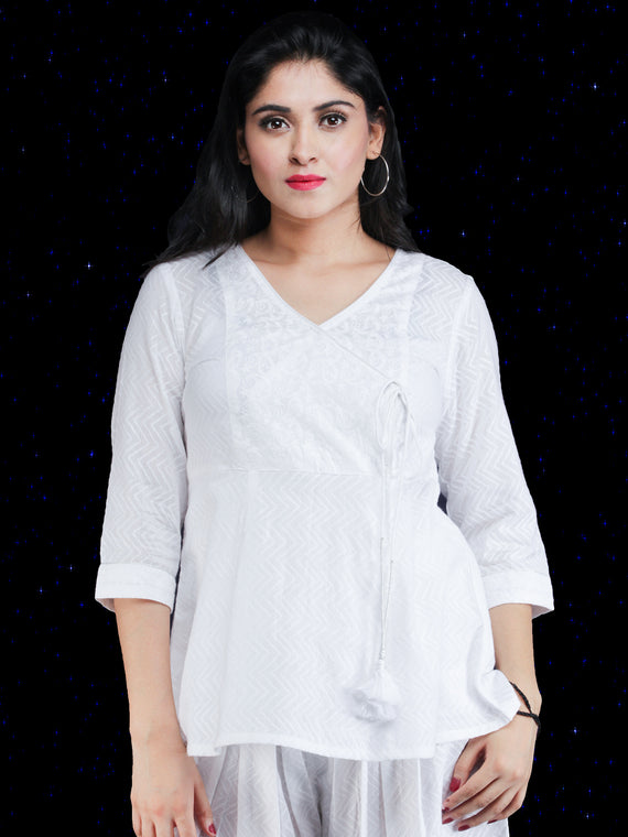 Chandni Aadila - Angrakha Cotton Top - T71FP03